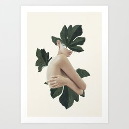 natural beauty-collage Art Print