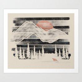 Mountain Lion at Midnight... Art Print