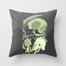 The Four Horsemen of the Apocalypse (Green) Throw Pillow