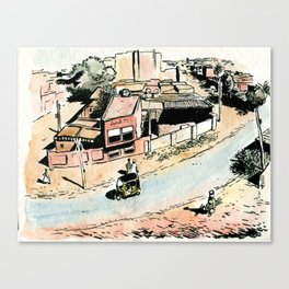 La rue - The street Canvas Print