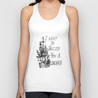 larry stylinson Tank Tops featuring I want to build you a boat. Harry Styles. Tattoo. (Larry Stylinson) by Arabella