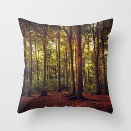 october forest II Throw Pillow