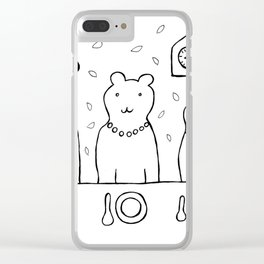 Three bears by poppyshome Clear iPhone Case