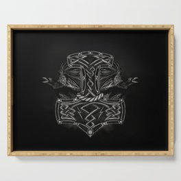 Mjolnir - The hammer of Thor and Ravens Serving Tray