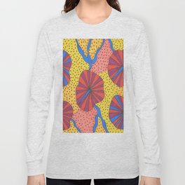 Umbrella Sky Retro Abstract Long Sleeve T-shirt