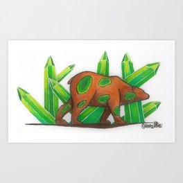 Emerald Bear Art Print