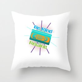 Be Kind Rewind VHS Player Viedo Home Recorder Casette Machine Tapes Gift Throw Pillow