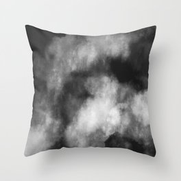 Watercolor Abstract (black/white) Throw Pillow