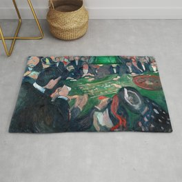 Edvard Munch - At the Roulette Table in Monte Carlo Rug