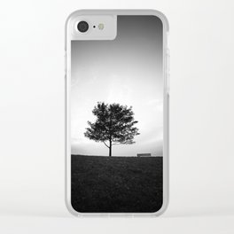 Tree and Bench Clear iPhone Case