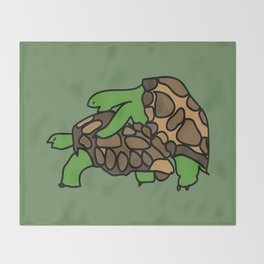 Turtle Galapagos mate love mating  Throw Blanket