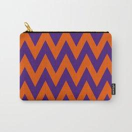 Team Spirit Chevron Purple and Orange Carry-All Pouch