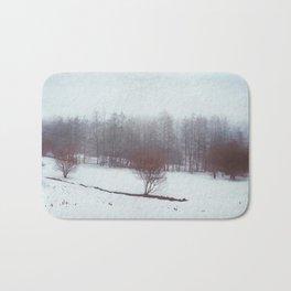 misty winterscape Bath Mat