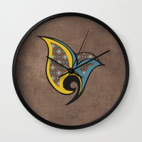 persian Wall Clocks featuring Persian Bird by Katayoon Photography
