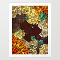 earth Art Prints featuring Earth by DuckyB