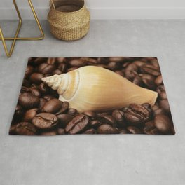 Coffee bean snail Rug