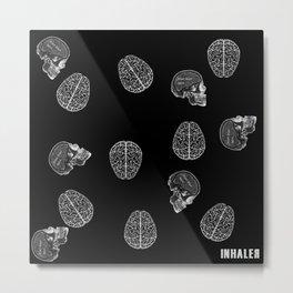 my poor brain - ffs - black version-  Metal Print