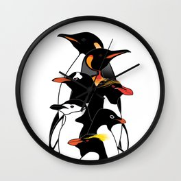 Penguins of Antarctica (vertical) Wall Clock