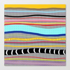 Bold stripes,breezy and beautiful,Striped Contemporary world's cute fashion Canvas Print
