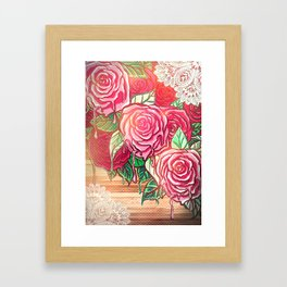 melting rose *flowersCollection* Framed Art Print