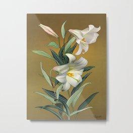 Trumpet Lily Metal Print