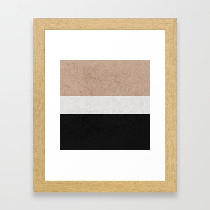 classic - natural, cream and black Framed Art Print