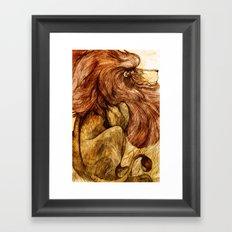 Une Crinière de Lion (the haughty and brilliant lion) Framed Art Print