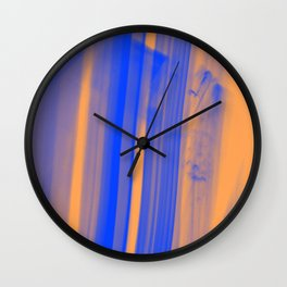abstract blue orange Wall Clock