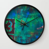 oasis Wall Clocks featuring Oasis by Cifertherhyme