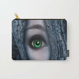 Big green eye in a blue tree Carry-All Pouch