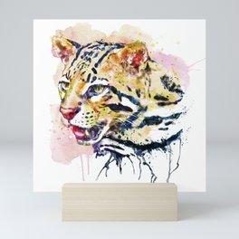 Ocelot Head Mini Art Print