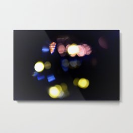 Black bokeh Metal Print