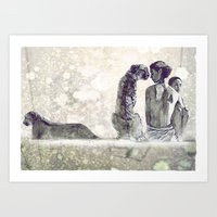 """Inspired by """"Ashes and Snow"""" Art Print"""