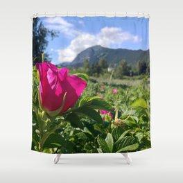 Haines Alaska Wild Rose Shower Curtain