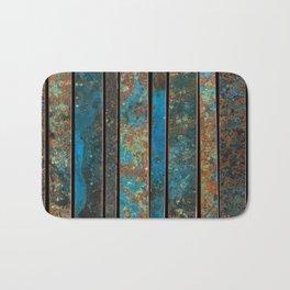 Metal Patina Stripes #1 Bath Mat