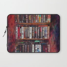 Stephen King Books on Shelves Laptop Sleeve