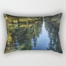 A Watery Avenue of Trees Rectangular Pillow