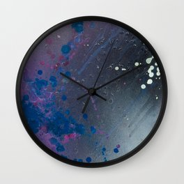 Depression Rains Wall Clock