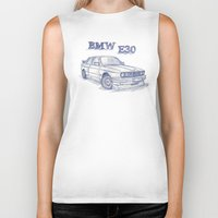bmw Biker Tanks featuring BMW E30 Fan by Jaykblu