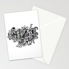 Abstract Alien World Stationery Cards