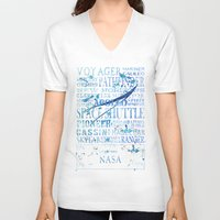 nasa V-neck T-shirts featuring NASA Solar System Missions by astrographix