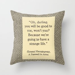 Oh, Darling Throw Pillow