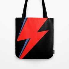 David Bowie Lightning bolt Tote Bag