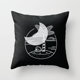 Spring Break Island - Night Throw Pillow