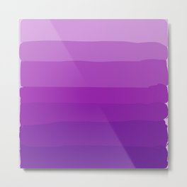 Ultra Violet Gradient Metal Print