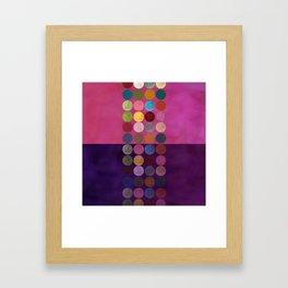purple painterly dots Framed Art Print