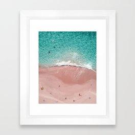 Pink Vacation Framed Art Print