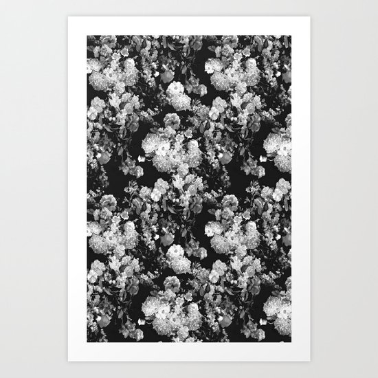 Through The Flowers // Floral Collage Art Print