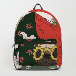 Hand drawn dog in hipster style Backpack