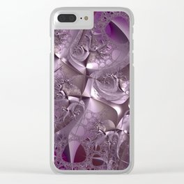 Cool Romance - Eternal love in the universe of fractals Clear iPhone Case